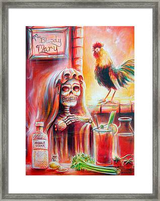 Mi Bloody Mary Framed Print by Heather Calderon