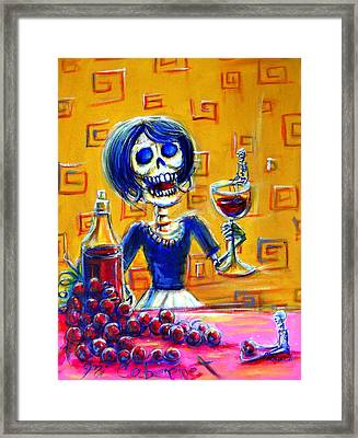 Mi Cabernet Framed Print by Heather Calderon