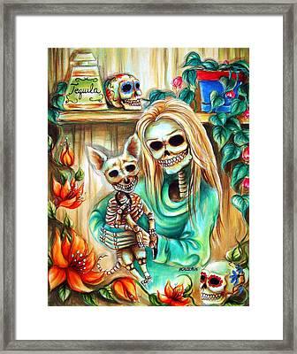 Mi Perrito Framed Print by Heather Calderon