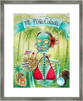 Mi Pina Colada Framed Print by Heather Calderon