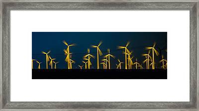 Mi3 Wind Turbines 4 Framed Print
