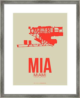 Mia Miami Airport Poster 3 Framed Print