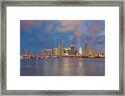 Miami - The Magic City Framed Print by Claudia Domenig