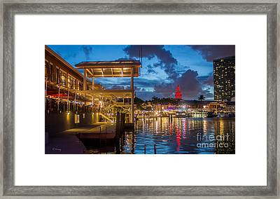 Miami Bayside Freedom Tower Framed Print