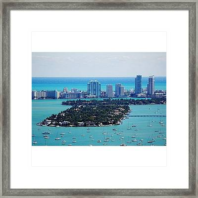 Miami Beach & Biscayne Bay Framed Print