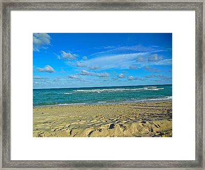 Miami Beach Framed Print