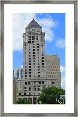 Miami Dade Courthouise Framed Print