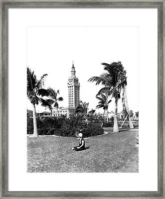 Miami Daily News Building Framed Print by Underwood & Underwood