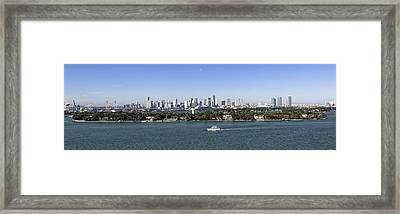 Framed Print featuring the photograph Miami Daytime Panorama by Gary Dean Mercer Clark