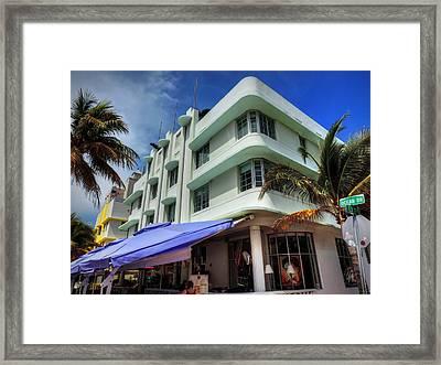Miami - Deco District 007 Framed Print