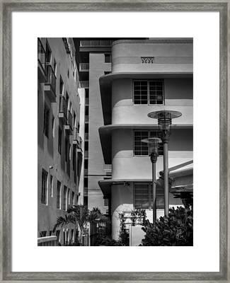Miami - Deco District 009 Framed Print