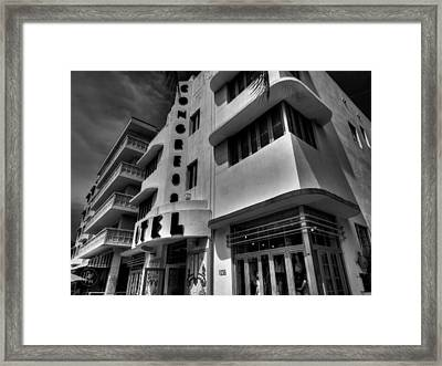 Miami - Deco District 010 Framed Print by Lance Vaughn