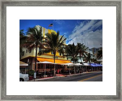 Miami - Deco District 011 Color Framed Print