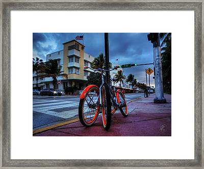 Miami - Deco District 021 Framed Print
