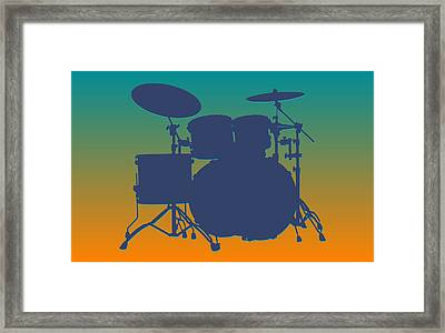 Miami Dolphins Drum Set Framed Print by Joe Hamilton