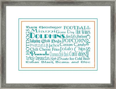 Miami Dolphins Game Day Food 3 Framed Print