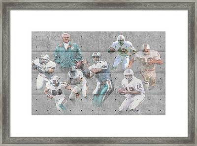 Miami Dolphins Legends Framed Print