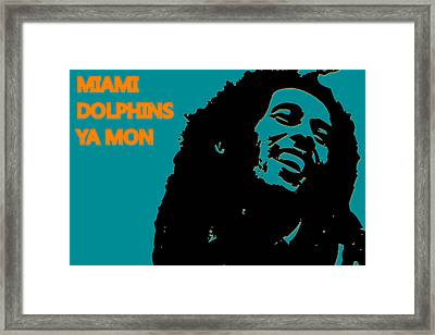 Miami Dolphins Ya Mon Framed Print