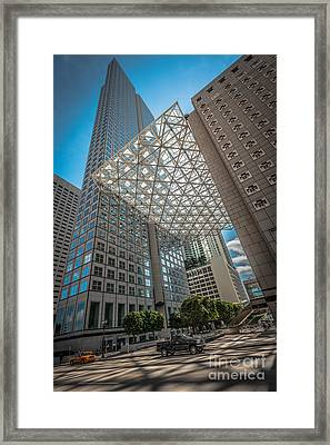 Miami Downtown Shadowplay Framed Print by Ian Monk