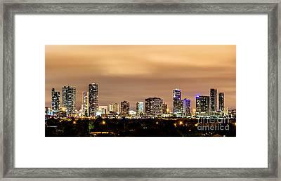 Miami Downtown Skyline Winter Sky Framed Print