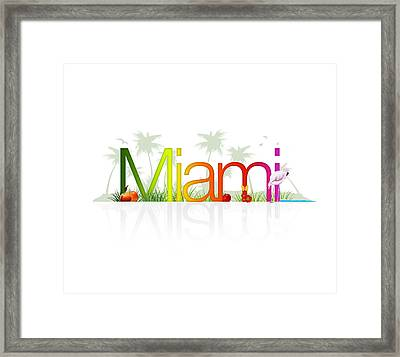 Miami- Florida Framed Print by Aged Pixel