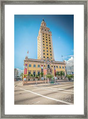 Miami Freedom Tower 4 - Miami - Florida Framed Print by Ian Monk