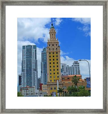 Miami Freedom Tower Framed Print
