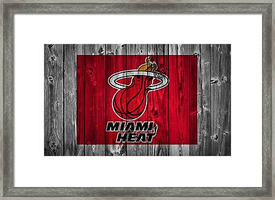 Miami Heat Barn Door Framed Print by Dan Sproul