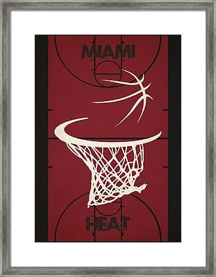 Miami Heat Court Framed Print by Joe Hamilton