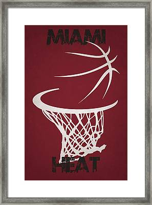 Miami Heat Hoop Framed Print by Joe Hamilton