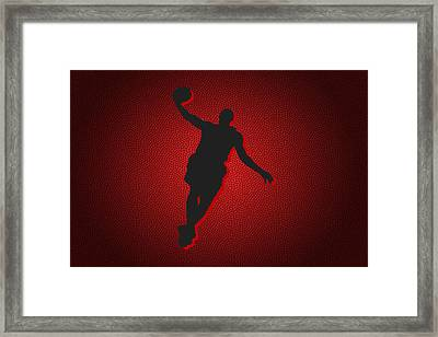 Miami Heat Lebron James Framed Print