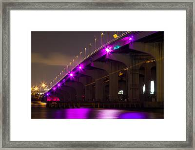 Miami Macarthur Causeway Bridge Framed Print