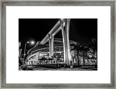 Miami Marlins Park Stadium Framed Print