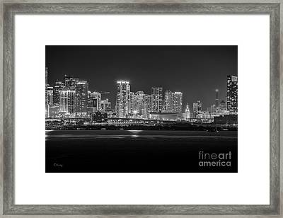 Miami On A Clear Summer Night Framed Print