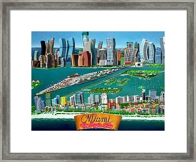 Miami Sizzle Framed Print