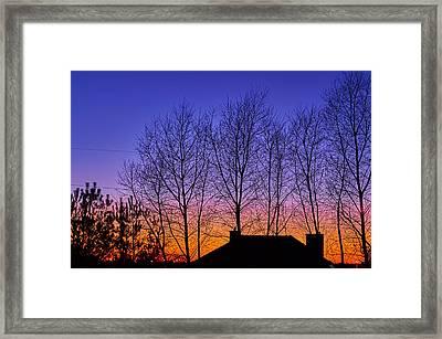 Miami Sky Framed Print