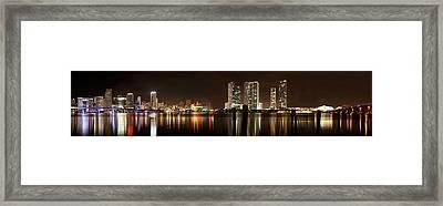 Miami - Skyline Panorama Framed Print