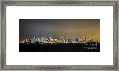 Miami Skyline View II Framed Print