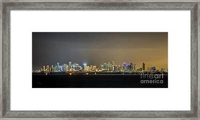 Miami Skyline View II Framed Print by Rene Triay Photography