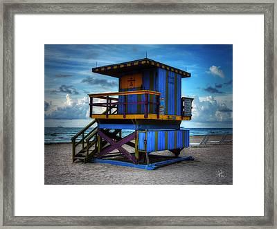 Miami - South Beach Lifeguard Stand 002 Framed Print