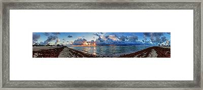 Miami - South Beach Pano 003 Framed Print