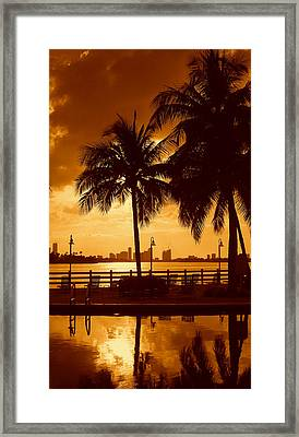 Miami South Beach Romance II Framed Print
