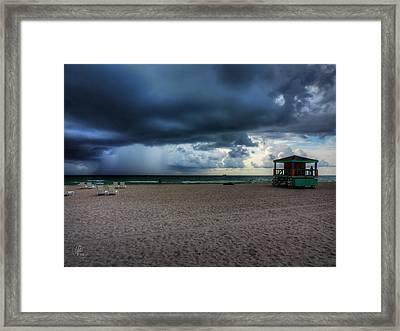 Miami - South Beach Storm 002 Framed Print by Lance Vaughn