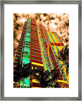 Miami South Pointe II Framed Print