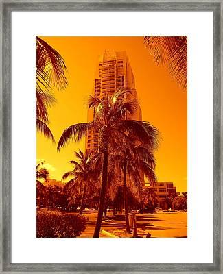 Miami South Pointe Iv Framed Print