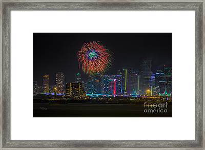 Miami The Colors Of New Years Celebration Framed Print