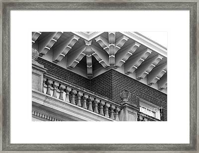 Miami University Hall Auditorium Detail Framed Print by University Icons