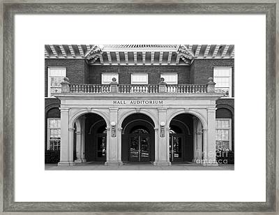 Miami University Hall Auditorium Framed Print by University Icons