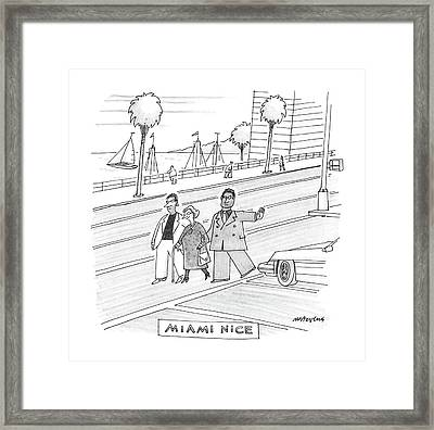 Miami Vice Framed Print by Mick Stevens