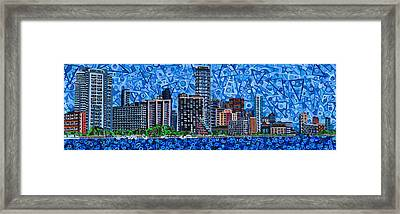 Miami - View From Rickenbacker Causeway Framed Print by Micah Mullen